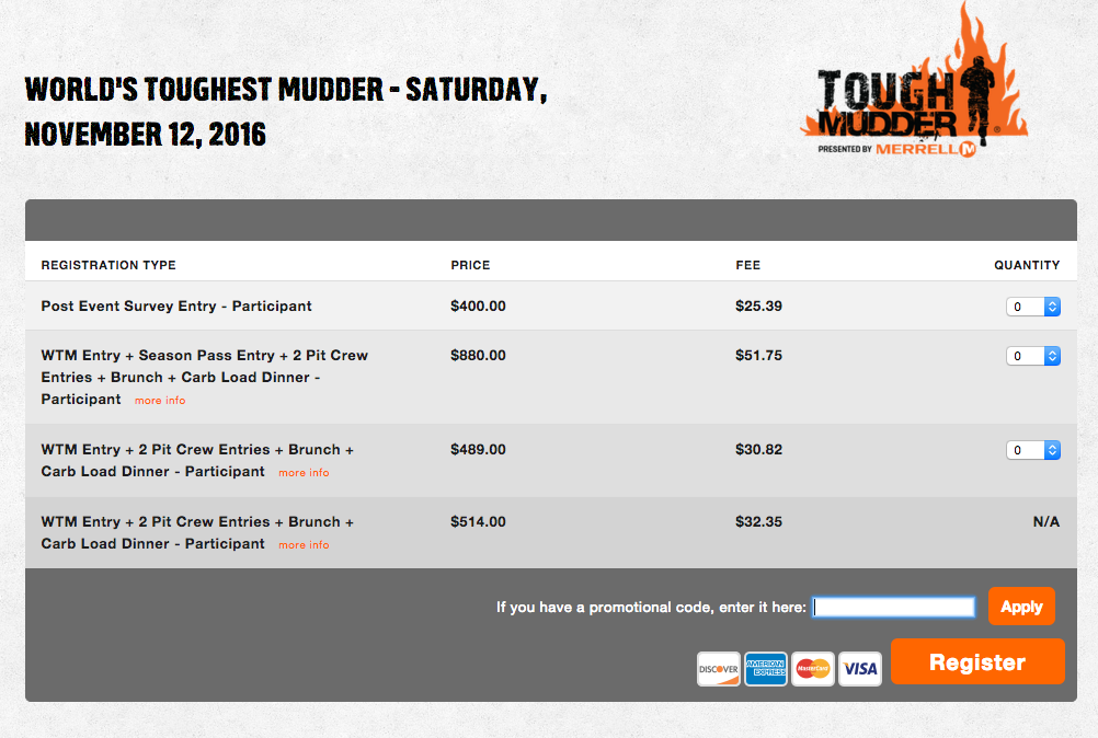 World's Toughest Mudder 2016